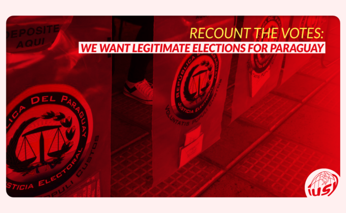 Elections in Paraguay: we ask to recount the votes